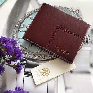 Tory Burch Block T Travel Foldable Wallet